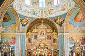 The Interior of Ukrainian Orthodox Church — Stock Photo