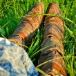Cowgirl boots - Stock Photo