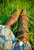 Cowgirl boots — Stock Photo
