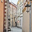 Narrow European street — Stock Photo
