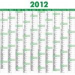 Calendar 2012 — Stock Vector #5807727