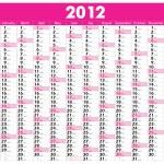 Calendar 2012 — Stock Vector #5807731