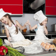Stock Photo: Two little girl cook