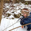 Small boy with ice axe — Stock Photo #5420483