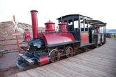 Locomorive vintage com carruagem — Foto Stock