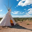 Teepee in american prairie — Stock Photo
