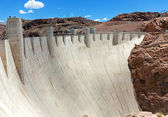 Hoover Dam in sunny day — Stock Photo