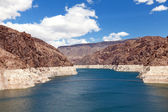 Decreased water level in Black Canyon of Colorado river — Stock Photo