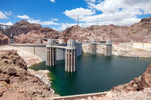 Hoover Dam on the border of Arizona and Nevada — Stock Photo