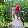 Stock Photo: Husband with his wife on the bridge