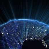 USA and Canada city lights — Stock Photo
