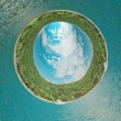 Island spherical panorama - Stock Photo