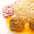 Pasta and meat-balls — Stock Photo #5391818