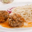 Pasta and meat-balls — Stock Photo #5639532