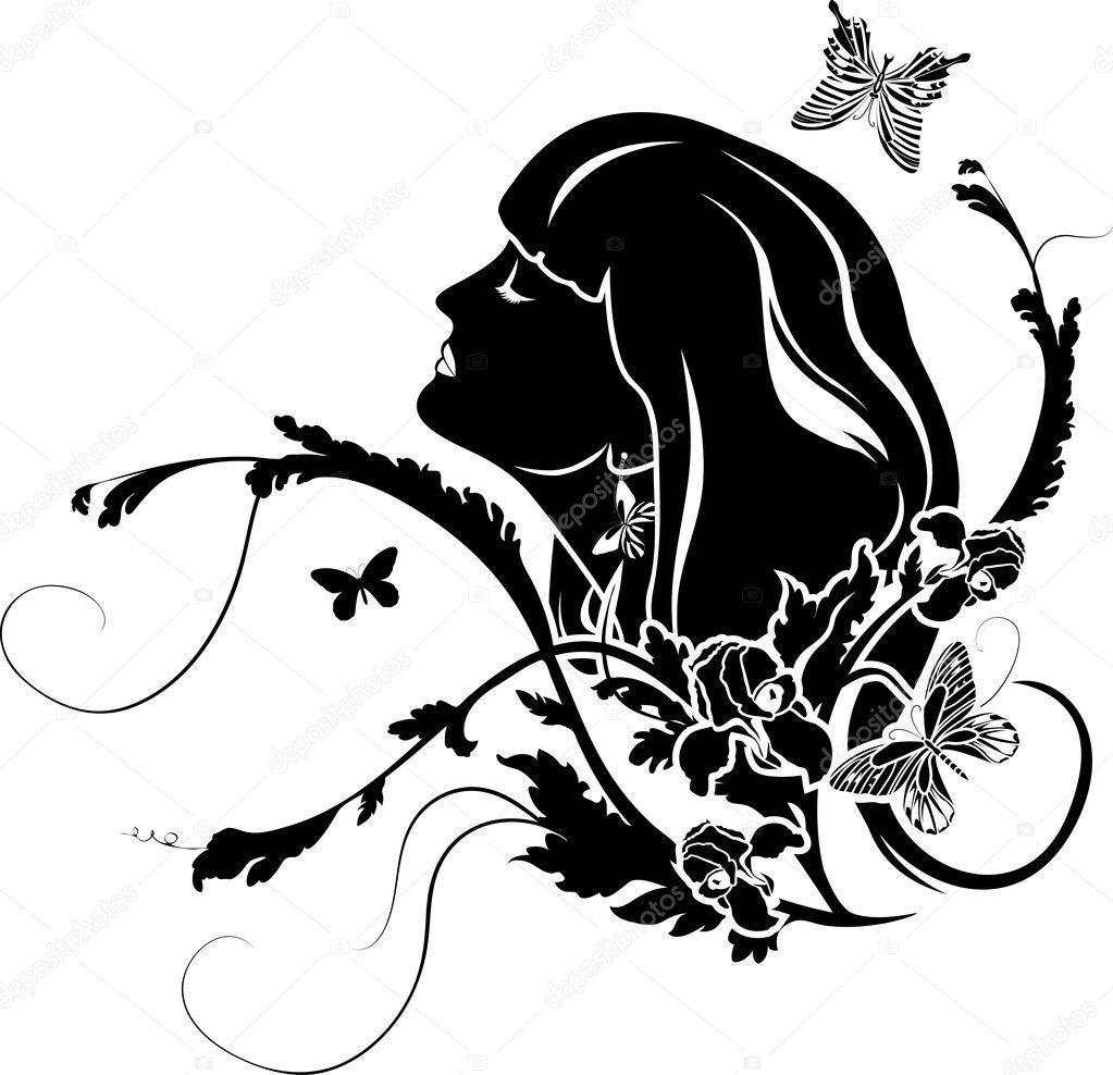 and butterflies stencil
