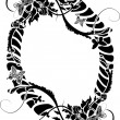 Stock Vector: Filigree flower border