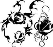 Rose tattoo — Stock Vector