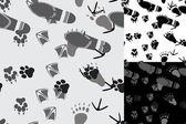 Djurs och människors spår sömlösa — Stockvektor
