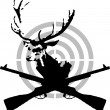 Deer hunt symbol — Stock Vector