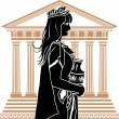 Roman patrician woman — Vector de stock