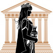 Royalty-Free Stock Imagen vectorial: Roman patrician woman