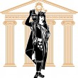 Royalty-Free Stock Vectorafbeeldingen: Roman patrician woman second variant
