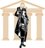 Roman patrician woman second variant — Stock Vector