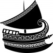 Greek ship stencil — Stok Vektör #6498856