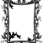 Ornate vintage frame stencil — Stock Vector #6621506