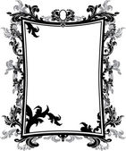 Ornate vintage frame stencil — Stock Vector