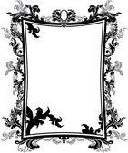 Ornate vintage frame stencil — Stock Vector