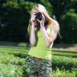 Photographer in park — Stock Photo