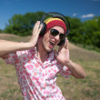 Young man with headphones — Stock Photo #5888449