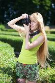 Fotógrafo en el parque — Foto de Stock