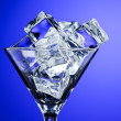 Martini glass with ice — Stock Photo #5386873