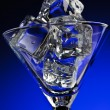 Martini glass with ice — Stock Photo