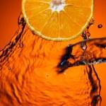 Orange with water — Stock Photo #5386947