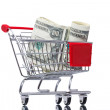 Market cart with money — Stock Photo #5387239
