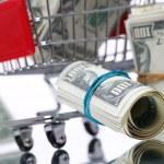 Market cart with money — Stock Photo #5387253