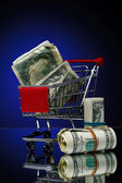 Market cart — Stock Photo