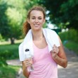 Young woman after sport workout — Stock Photo
