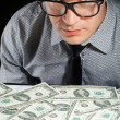 Man and money — Stock Photo