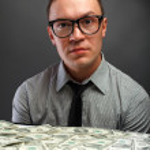 Man and money — Stock Photo