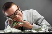 Man with money — Stockfoto