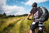 mountainbiker — Stock Photo
