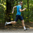 Young jogger runnig at the park — Stock Photo #6315378
