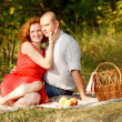 Young couple at outdoor — Stock Photo #6481593