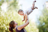 Mother with baby — Stock Photo
