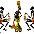 African matchmaking - Stok Vektr