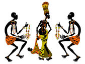 アフリカのマッチメイ キング — ストックベクタ